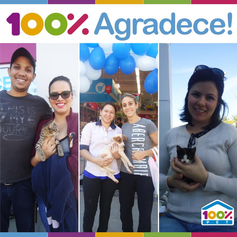 A 100% Pet agradece a participação de todos no evento realizado em Barão Geraldo.