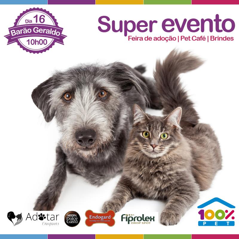 Super evento na 100% Pet de Barão Geraldo