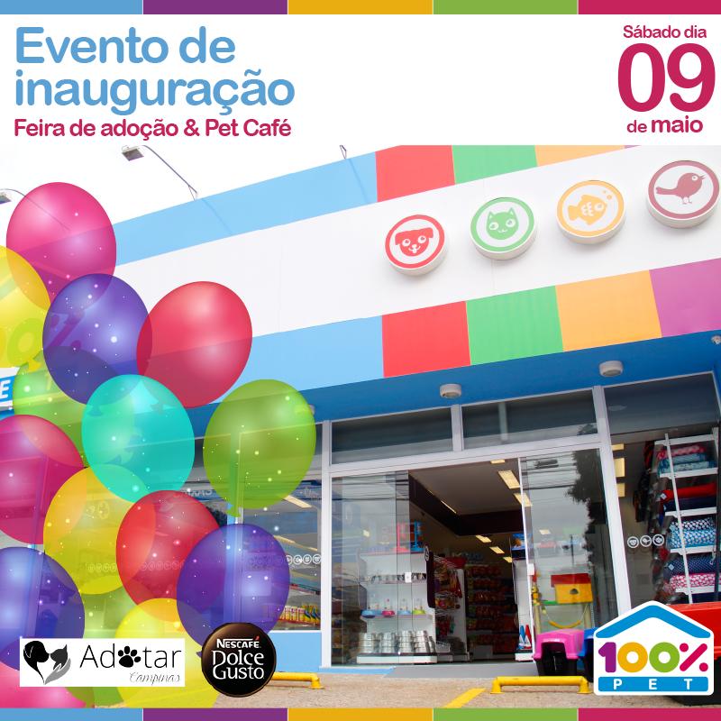 Evento de inauguração na loja 100% Pet do Taquaral