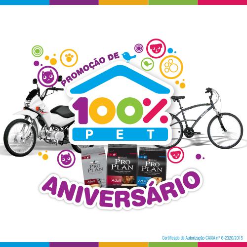 Promoção de Aniversário 100% Pet